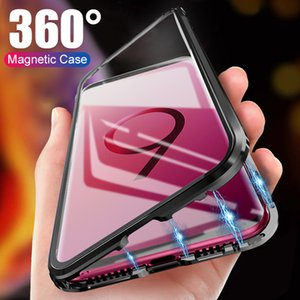 Magnetic Case For Samsung Galaxy S20 S10 S9 S8 Plus 360 Protective Metal Tempered Glass Cover For Note 10 9 Plus