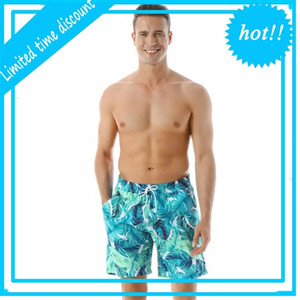 Men Surf Board Summer Print Pocket Track Sport Beach Shorts Swim Boxer Trunks