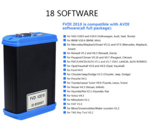 FVDI 2018 Full(Including 18 S.oftware) FVDI ABRITES Commander No Limited Covers FVDI 2014 2015 & Most Functions Of VVDI2
