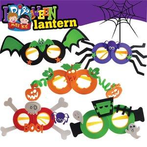 Новое поступление Хэллоуин Солнцезащитные очки Детей DIY Handmade Очки Игрушки 5 Стили Смешные Очки Для Стороны Украшения 2mk E1