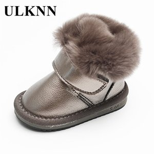 ULKNN Boys Girls Ankle Boots Fashion Warm Velvet Soft Bottom Baby Cotton-padded Snow Boots Little Princess Non-slip Shoes Y1117