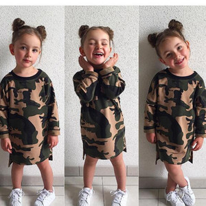 Camouflage Baby Clothes Kids Clothing Girls Summer Jumpsuit Boys Girls Infant Pajamas Set Clothes Styles Knee Length Dresses WQ146
