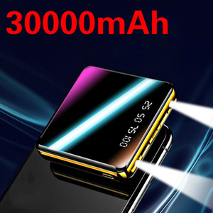 30000mAh Mini Power Bank Fast Charger for Iphone Samsung Xiaomi 2 USB LCD Powerbank Portable Charging 2020 New