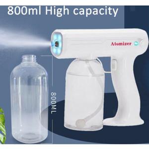 Nano Atomizzazione Sanitizer Spruzzatore Pistola 800ml Disinfezione Mano Sanitizer Gun Pistola palmare Blu Nano Portatile Atomizzazione elettrica Atomizzazione elettrica