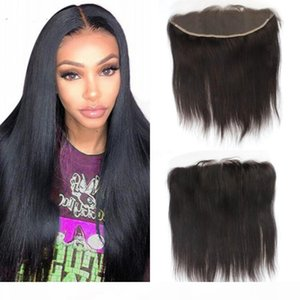 Brazilian Straight Lace Frontal Closure with Baby Hair 13*4 Ear to Ear Swiss Lace Frontal Natural Color Virgin Hair Frontal