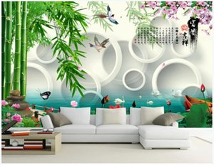 Custom photo wallpaper 3d wall murals wallpaper Pastoral flower and bird picture landscape painting background wall papers for living room