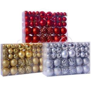 Christmas Ball Ornaments, 100Pcs Bauble Hanging Xmas Ball Ornament Gift for Christmas Tree Home Party Decoration
