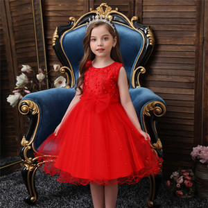 Western style Girl Wedding Bridesmaid children's party birthday party princess dress children's gorgeous show evening dress