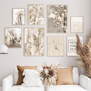 Reed Wheat Dandelion Flower Sweet Home Wall Art Canvas Painting Nordic Posters And Prints Wall Pictures For Living Room Decor