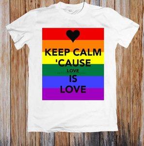 Mantenha a causa calma, o amor é amor designers unisex t camisa de homens com capuz gráfico