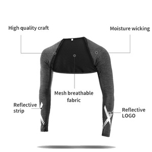 Rockbros Outdoor Cover Ups Fabric Sport Jogging Biking Shoulder Pad Cut with Arm Sleeves Summer Outfit Men Women Shawl Stretcher