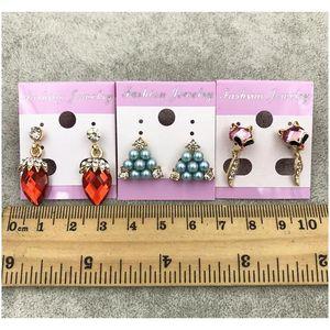New Best Diamond Stud Drop Earrings Wedding Crown Princess Dangle Silver Gold Pearl Opal Trendy Black Earrings Valenti jllxqx bdecoat