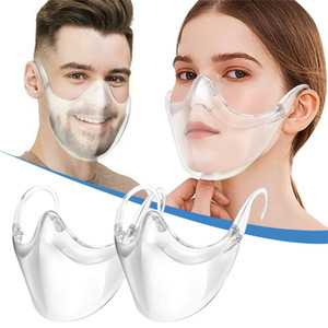 Adult Anti-Fog Clarity Face Shield Reusable Transparent All Clear Masque Breathable Comfortable Visible Expression Face Mask for Women Men