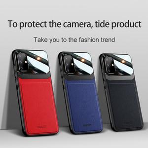 Luxus-Bumper-Ledertasche für Samsung Galaxy S21 S30 S20 S20 S10 S9 S8 Plus-Abdeckung für Samsung S21 / S30 Pro A51 A71 Anmerkung 20 10 PLUS FUNDA