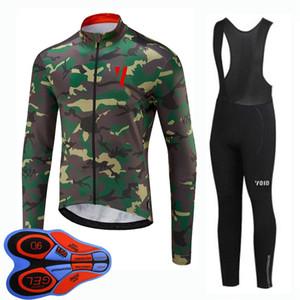 NOUVEAU VOID ÉQUIPE Hommes Cyclisme Pantalon de bretelle Jersey Jersey Ensemble Vêtements de vélo MTB Tenue de vélo rapide Uniformes d'automne Vélo de vélo d'automne Y20091108