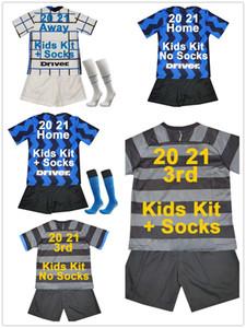 20 21 ALEXIS LUKAKU Kids Kit Soccer Jerseys BROZOVIC SKRINIAR Home Away 3rd Football Shirt SKRINIAR D' AMBROSIO GAGLIARDINI Socks Uniforms