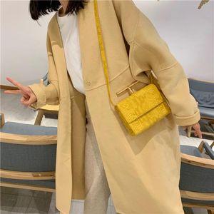 Yellow Women Handbags Retro Serpentine Chain Bag Printed Small PU Snake Leather Shoulder Crossbody Bags Female Messenger Bag