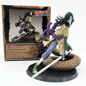 14cm Anime Orochimaru Action Figures Naruto Statue The Fire Nation Konohagakurenosato orochimaru Figure PVC Model Toys Gifts
