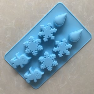 DIY Cook Mould 8 Even Snow Raindrops Silica Gel Chocolates Model Ice Lattice Household High Temperature Yi Qingxi Model