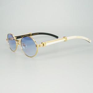 Designer Na Moda Nico Branco Chifre Preto Vintage Sunglass Luxo Lentes Visière Carter Culos Vermelho Gafas de Sol Para Déco FPP7