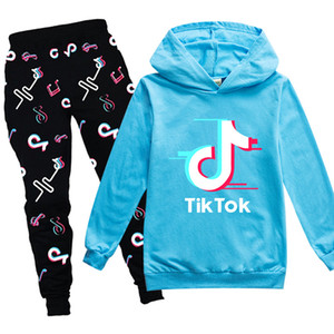 Boys Novelty 3D Tiktok Autumn Clothing Set Toddler Girls Hooded Sweatshirt and Pants Tracksuit Outfits Suits for 3-12 years Kids