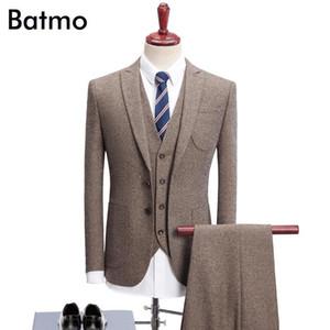 Batmo 2020 new arrival High quality thick khaki causal men's suis,wedding dress suit men,men's business suits,plus-size