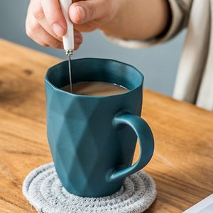 2020 Ceramic Mug with Spoon Home Creative European Macarons Milk Cup Personality Trend Coffee Cup Water Cup Breakfast 301-400ml