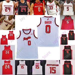 Rutgers Alllet Knights Баскетбол Джерси NCAA College Ron Harper Jr. Geo Baker Akwasi Yeboah Myles Johnson Caleb Mcconnell Mathis Young