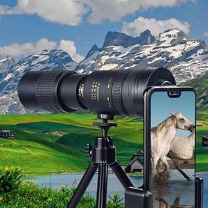 10- Super Telephoto Zoom Monocular Telescope المحمولة للسفر الشاطئ يدعم الهاتف الذكي لالتقاط الصور LJ201120