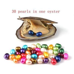 Oval Oyster Pearl 6-7mm mistura 15 cor Água fresca Natural Pérola Presente DIY Decorações soltas Embalagens de vácuo Wholes Whtnmn Queen66