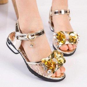 Nuove Summer Children Performance Shoes Fashion Bow Tymby Strass Molle Sandali di punta traspirante traspirante per ragazze Princess # SR4N