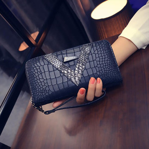 Designer-Hot Sale 2020 New Long Women Wallets Crocodile Pattern Women Purse Best Phone Case Wallet Female Coin Purse Money Bag Card Holders