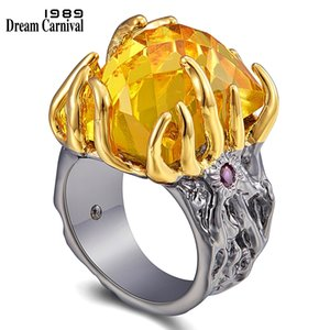 DreamCarnival1989 Original Big Zircon Love-Ring Women Delicate Wedding Engagement Gothic Jewelry Rings Flaming-Look Gift WA11758 Y1119