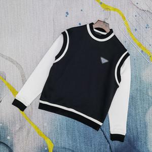 2020 Europa Homens Moletons Retro Nova Camisola Comida Respirável Adicionar Veludo Quente Triangular Metal Bordado Asiático Camisola