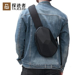 Xiaomi Tajezzo BEABORN Polyhedron PU Bag Waterproof Colorful Leisure Sports Chest Pack Bags Mens Women Travel Camping 201130