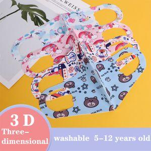 Ice Protetive Impresso Crianças De Silk Máscaras Crianças Dustproof Respirável Anti-Haze Repetível Lavagem Customizável Escudos M