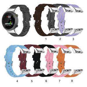Sangle Slim Canvas pour Garmin Swim 2 Remplacement de la bande de montre pour Forerunner 45 45s Watchband Nylon Bracelet Bracelet en tissu tissé en gros