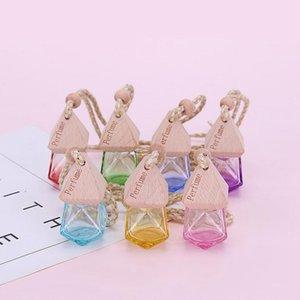 Автомобильная парфюмерная бутылка подвесной эфирное масло диффузор 7 цветов сумка одежда украшения освежитель воздуха подвесной пустой стеклянный флакон духов DWA2471