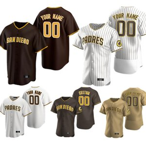 23 Fernando Tatis Jr. San Diego البيسبول الفانيلة Padres 13 ماني Machado 19 Tony Gwynn Retro مخصص 2020 New Season Baseball Jersey