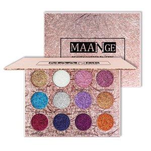 12 Colors Diamond Glitters Eye Shadow Powder Golden Eyeshadow Palette Waterproof Shiny Makeup Faced Beauty Cosmetics