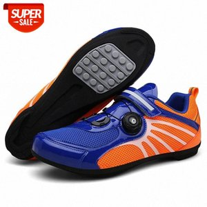 Cycling Shoes Men Pro Team Mountain Road Bike Shoes Rubber Breathable Bicycle Unlocked MTB 36-44 Size #Ga9Z