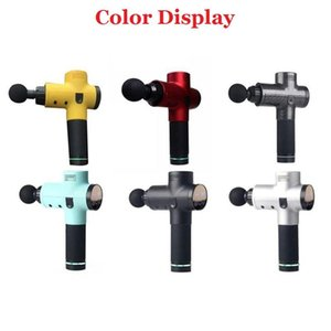wholesale muscle massage gun full body massager fitness gym equipment 1200r min to 3200r min anti fatigue relaxing muscle tiredness recovery