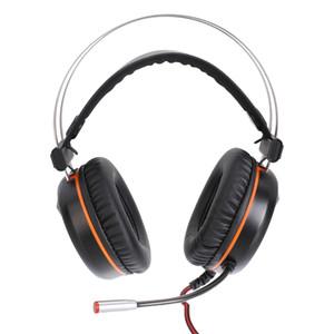 Vamery G601 Virtual 7.1 Наушники RGB Красочный объемный звук Эффект наушники USB Gaming гарнитура с микрофоном серебристый серый