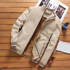 iSurvivor 2021 Autumn Mens Bomber Jackets Casual Male Outwear Fleece Thick Warm Windbreaker Jacket Mens Baseball Coat