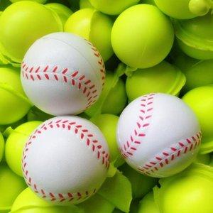 6.3 cm Spugna rotondo PU schiuma di schiuma Bambini in schiuma di pallacanestro sfiato pressione riduzione del giocattolo calcio da baseball Tennis AHF3246