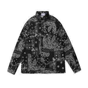 2021 Nuova Kiryaquy Men Paisley West Coast Calza craps Bloods Moda Cotone Casual Camicie Camicie Camicia di alta qualità Pocket a maniche lunghe S 2XL # 01 TDQC