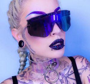 Gafas de sol de verano de verano ppittt de verano. Mujeres Dormir Gafas de viento Hombres Moda Ciclismo Ciclismo 6Colors Color One Piece Lens UV400 Free Ship