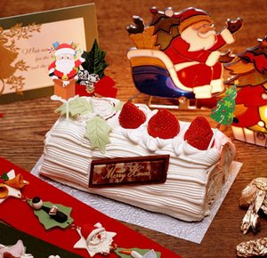 5 Sets Toppers Visibility Cupcake Christmas Party 5 Cake Claus Sqcmbv Supplies Best Sets Paper Santa Picks jllyQ yummy_shop