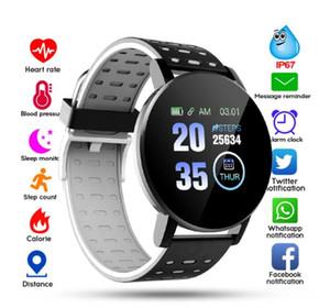 119Plus Bluetooth Smart Watch Men Blood Pressure Smartwatch Women Watch Sport Tracker WhatsApp For Android Ios PK B57 116 D13 M4
