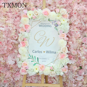 Ins Sen System Simulation Flower Strips Wedding Decoration Flowers Arrangement Home Garden Welcome Area Stage Background Floral